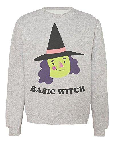 miling Halloween Witch Men's Women's Unisex Sweatshirt XX-Large (Halloween Latte)