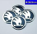 #3: Wheel Centre hub Cap Emblem Badges for Skoda Black Octavia Fabia Superb Rapid yeti