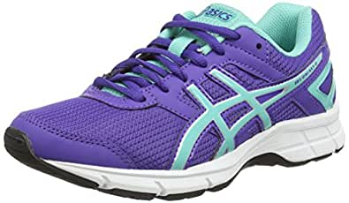 Asics Gel-Galaxy 8 GS, Unisex-Kinder Laufschuhe, Weiß (White/Grape/Living Coral 0136), 35 EU