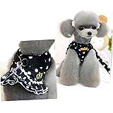 eizur Dog Pet Weste Geschirr + Leine Sicherheit Walking Training Kleidung verhindern Unfälle Weich Polka Dot Krone Rock 4Größen S/M/L/XL 2cm rose A0164/schwarz + weiß