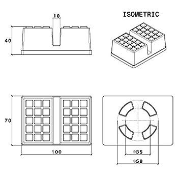 Carpropads Standard Wagenheberauflage Mit Abrutschsicherer Stahl Basisplatte 4