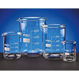 SCILABWARE 090033 -Vaso de precipitados, 100ml en vidrio de borosilicato Pyrex, forma baja