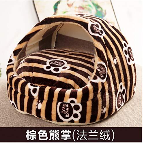 ymx802 warme und Bequeme winterwarme Haustier Hund (welpe) Katze Kissen halbes Kissen Schlafsack bedeckt Bett, tan Light, s -