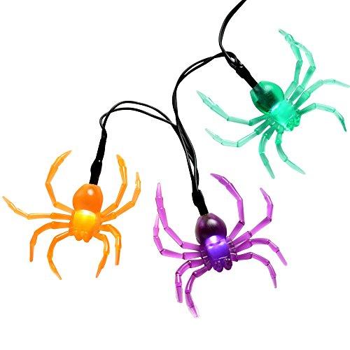 WeRChristmas Totenkopf-Leuchten mit Netz-Stoff für die Halloween-Dekoration, Mehrfarbig, 10 LEDs