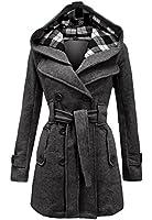 Womens Long Sleeve Belted Button Fleece Coat