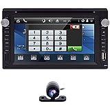 "Universal 2Din 6,5""HD pantalla táctil coche reproductor de DVD estéreo AM/FM Radio RDS/SD/USB/AUX Bluetooth cámara de retroceso"