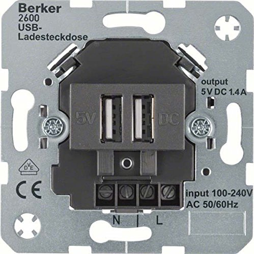 HAGER - MECANISMO TOMA USB 230V ANTRACITA MATE