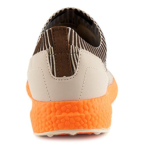 Fivesix Sneakers Da Uomo Scarpe Sportive Scarpe Da Ginnastica Scarpe Casual Scarpe Basse Basse Unisex Beige / Arancione-m