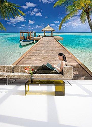 Meer Wand Dekoration Wellen-983-DV3 Strand Tapete Komar Ozean Vlies Fototapete SEASIDE 300 x 250 cm