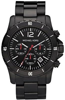 Michael Kors MK8161 de cuarzo para hombre con correa de acero inoxidable, color negro