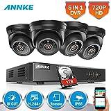 [Mejorado 720P HD] SANNCE Kit de 4 Cámaras de Vigilancia Seguridad (Onvif H.264 CCTV DVR P2P 8CH...