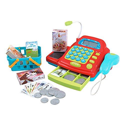 Playgo - Caja registradora eléctrica con accesorios (ColorBaby 44584)