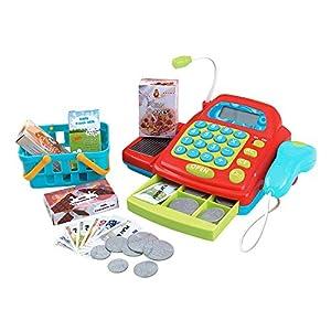 PlayGo- Caja registradora eléctrica con Accesorios, (Color Baby 44584)