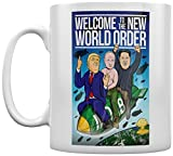 Grindstore Kaffeebecher Welcome To The New World Order weiß