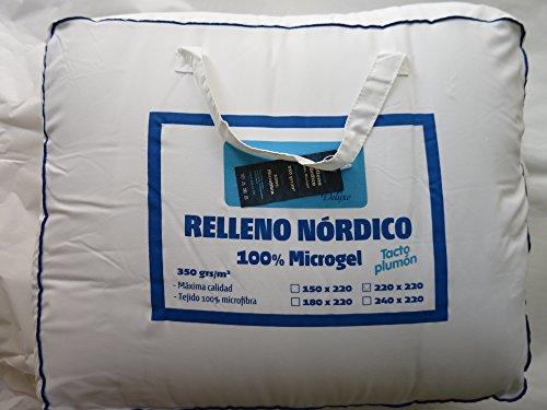 Edredón Nórdico de microgel para cama de 135cm.