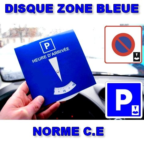 1386 Disque Horaire Stationnement Parking Zone Bleue Heure Arriv/ée