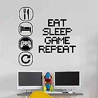 Eat Sleep Play Children Room Wall Sticker Mural Vinyl Decal Nursery Kids Gamers Wall4Stickers Art Teenager Video Game Mural