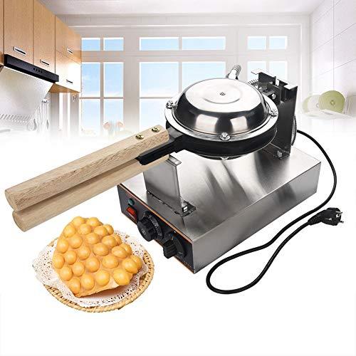 220V Gaufrier Bubble Waffle Professionnel Electrique en Acier Inoxydable Revêtement Antiadhésif Moule à Pâtisserie
