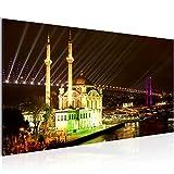 Runa Art Bilder Istanbul Türkei Wandbild Vlies - Leinwand Bild XXL Format Wandbilder Wohnzimmer Wohnung Deko Kunstdrucke Braun 1 Teilig - Made IN Germany - Fertig zum Aufhängen 602412a