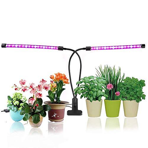 Led Pflanzenlampe Vollspektrum Grow Light mit 3 automatisch Timer (4H/8H/12H), dimmbar 5 Stufen Grow Lampe