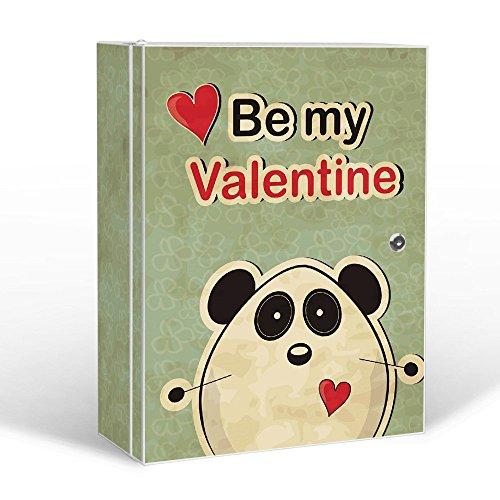 #banjado – abschliessbarer Medizinschrank 35x46x15cm mit Motiv Be My Valentine#
