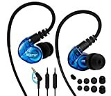 Adorer Sports Earphones RX6 Noise Isolating In-ear Headphones with Microphone and Sweat Resistant for iPhone, iPod, Samsung and more - Blue
