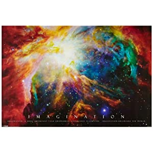 1art1 48900 Motivation - Imagination, Galaxie Nebel Poster (91 x 61 cm)