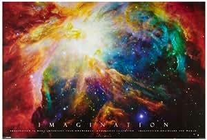 1art1 48900 Motivation - Imagination, Galaxie Nebel Poster (91 x 61 cm)