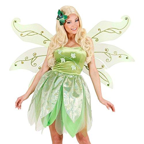 Amakando Große Feenflügel Schmetterlingsflügel Elfenflügel Fee Waldfee Flügel Elfen Grüne Engelsflügel Schmetterling Faschingsflügel Feen