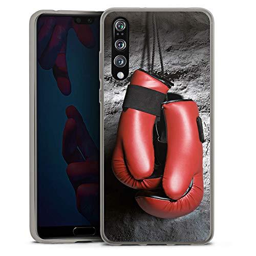 DeinDesign Slim Case Silikon Hülle Ultra Dünn Schutzhülle für Huawei P20 Pro Boxen Boxhandschuhe Fight