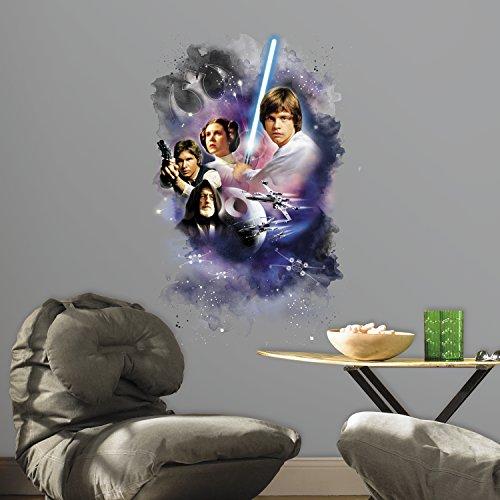 RoomMates RMK3026TB - Pegatinas de pared, diseño Star Wars personajes clásicos, póster gigante
