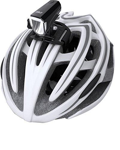 Crops lum100LED bicicleta lámpara de luz frontal para casco y manillar Montaje-Wide Angle Beam Tecnología-3modos-USB cargador con control de consumo