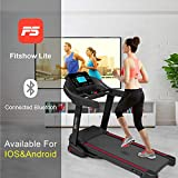 Murtisol Folding Electric Treadmill Incline Motorized Walking Running Machine with Smartphone APP Control, Fold-up MT196 Treadmills with Heart Rate Grips for Home Gym Exercise