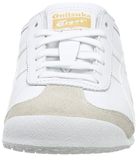 Onistuka Tiger Mexico 66, Sneakers Basses Mixte adulte Blanc (White/Blue 0146)
