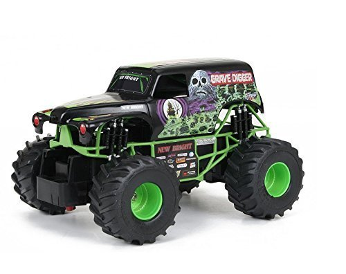 Rc-Cars-Monster-Trucks-New-Bright-124-Remote-Control-Monster-Jam-Grave-Digger-Cars-Toys-has-full-function-RC-capabilities-a-detailed-frame-and-oversized-grip-tires-Race-Cars-Full-function-left-right-s
