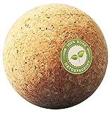Korkball - Kork Faszienkugel - Natur Massageball - Trigger Zonen Faszienball, Triggerpunkt Faszientraining, Plantarfasziitis Training und Verspannungen in Rücken, Schulter - Selbstmassagegerät 5 cm