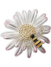 Loveangel Jewellery Enamel Daisy Bee Brooch Pin Accessories For Her Women