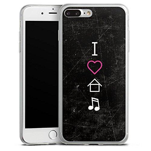 Apple iPhone 8 Slim Case Silikon Hülle Schutzhülle House Musik Liebe Silikon Slim Case transparent