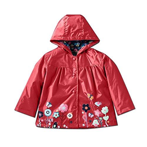 BIUBIUboom Little Girls Raincoat Outerwear Waterproof Coat Jacket