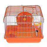 Sharplace Tragbar Nagerkäfig Hamsterkäfig Kleintierkäfig mit Laufrad und Trinkflasche - Typ 2