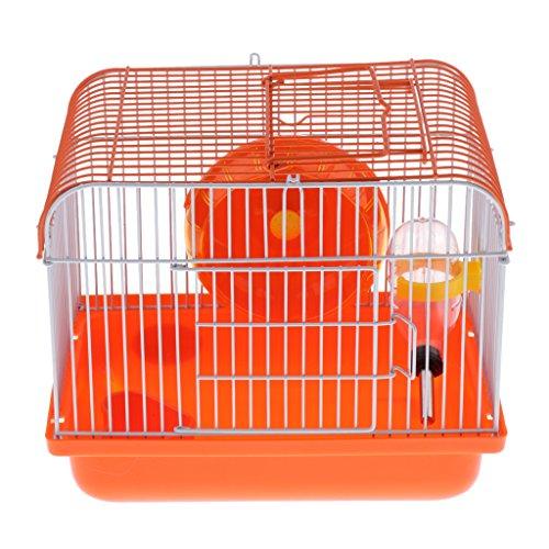 Sharplace Tragbar Nagerkäfig Hamsterkäfig Kleintierkäfig mit Laufrad und Trinkflasche - Typ 2 -