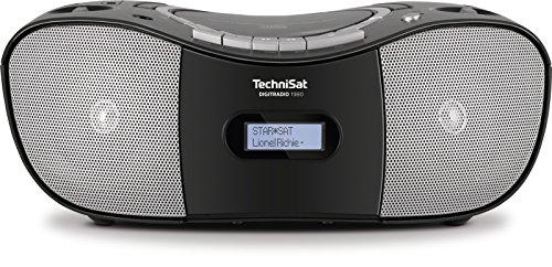 TechniSat DIGITRADIO 1980 / Digital-Radio im Retro-Design, DAB+, UKW, USB-Schnittstelle, CD-Player und Kassettendeck, Kopfhöreranschluss, USB- und AUX-IN-Schnittstelle, schwarz