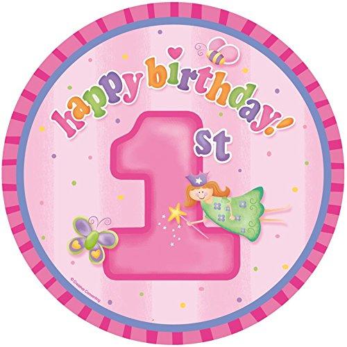 Essbarer Tortenaufleger 1. Geburtstag Mädchen * 1. Happy Birthday * zum ersten Mädchen-Kindergeburtstag (Happy Birthday Essbare Kuchen Bilder)