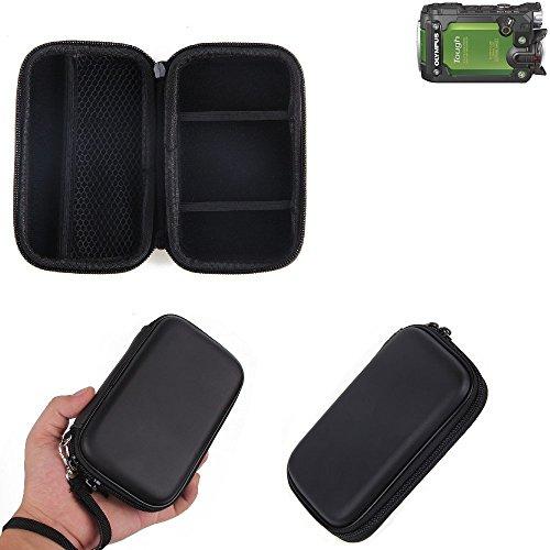 Caso duro, estuche para cámara compacta Olympus TG-Tracker, bolsa / funda rígida con espacio para jaulas de memoria, batería de repuesto, cargador de jaula, etc.   prueba del choque - K-S-Trade(TM)