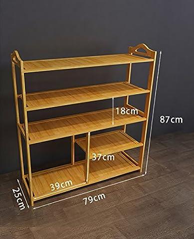 Massivholz Schuh-Rack, einfache fünf-geschossige Schuhschrank, Multifunktions-Pantoffel-Rack, wirtschaftliche Haus Schuh-Rack, Stiefel Lagerung Rack ( größe : 80cm