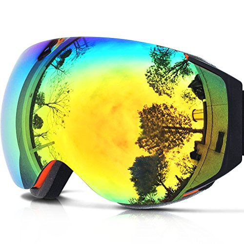 ZIONOR Lagopus X6 Spherical Frameless Ski Snowboard Snowmobile Skate Skibrille mit UV-Schutz Anti-fog