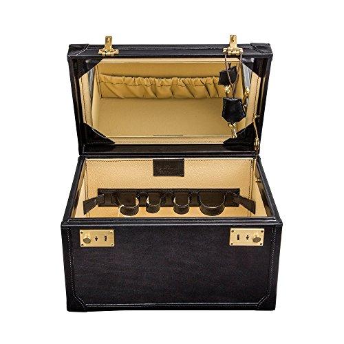 Maxwell Scott - Vanity case en cuir noir (Bellino)