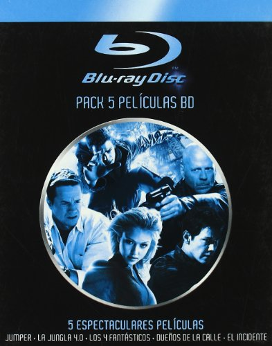 Jumper / Jungla 4.0 / 4 Fantasticos / Dueños De La Calle / El Incidente [Blu-ray] [Spanien Import]