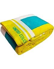 United Colors of Benneton Cotton Soft Full Size Bath Towel 450 GSM for Men and Women (Multicolour, 137 X 40 cm)