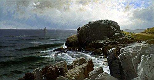 Das Museum Outlet-Art Postkarte-Bricher-Castle Rock, MARBLEHEAD (- Set 12Stück Postkarten